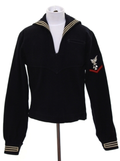 1960's Unisex Wool Navy Sailor Shirt