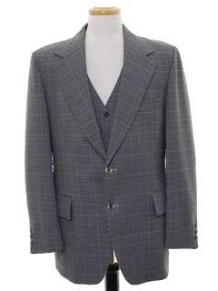 1970's Mens Two Piece Disco Blazer Style Sport Coat Jacket