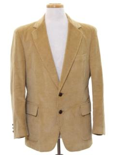 1980's Mens Corduroy Blazer Style Sport Coat Jacket
