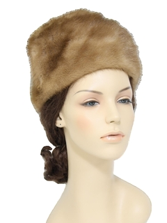 1960's Womens Accessories - Fur Hat