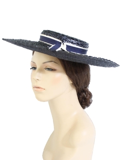 1950's Womens Accessories - Sun Hat