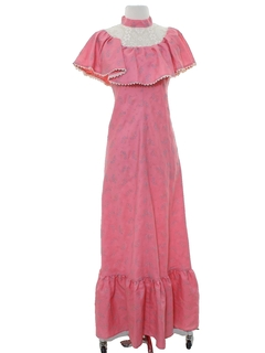 1970's Womens Prairie Dress