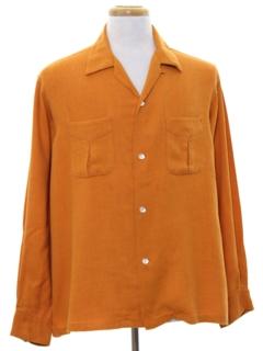 1950's Mens Gabardine Style Sport Shirt