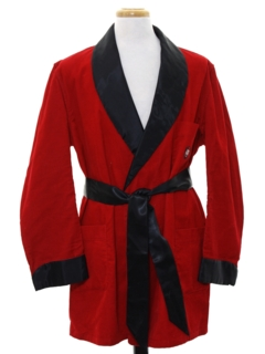 1960's Mens Smoking Jacket Style Robe