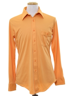 1970's Mens Solid Disco Style Shirt