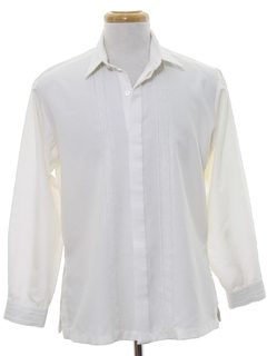 1980's Mens Guayabera Inspired Shirt
