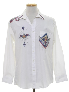1980's Mens Totally 80s Hippie Western Style Shirt