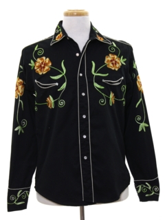 1970's Mens Hippie Style Western Rodeo Shirt