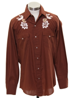 1980's Mens Hippie Style Western Shirt