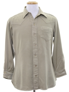 1960's Mens Rayon Gabardine Western Shirt