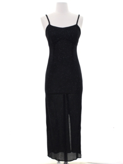 1990's Womens Wicked 90s Prom Or Cocktail Maxi Wiggle Dress