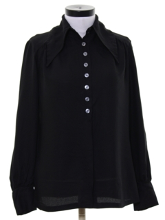 1960's Womens Mod Edwardian Peacock Revolution Shirt