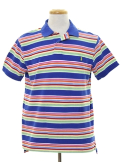 1980's Mens Totally 80s Style Polo Shirt