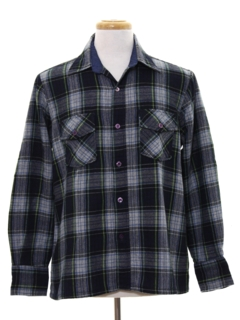 1970's Mens Flannel Board Style Shirt