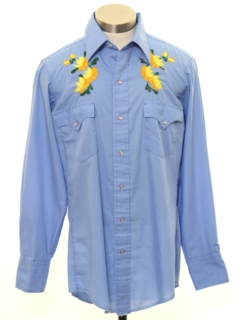 1970's Mens or Boys Hippie Western Shirt