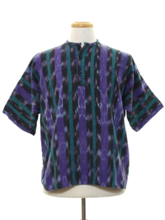1980's Mens Guatemalan Hippie Shirt