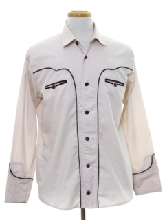 1980's Mens Rodeo Style Western Shirt