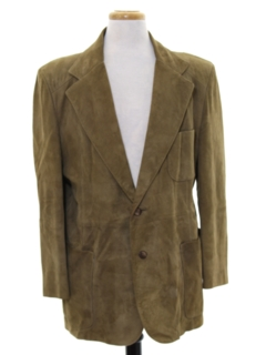 1970's Mens Suede Leather Blazer Sportcoat Jacket