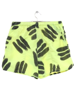 1980's Unisex Totally 80s Neon Swim Shorts