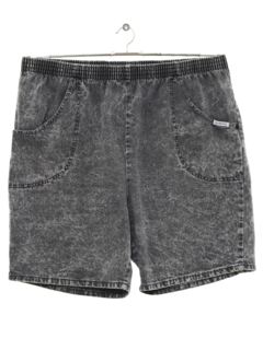 1980's Unisex Totally 80s Acid Washed Baggy Shorts