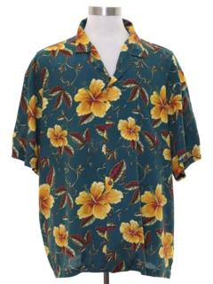 1990's Mens Rayon Hawaiian Shirt