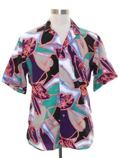 1980's Mens Totally 80s Island Shirt
