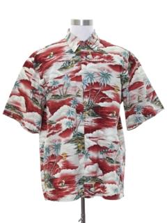 1990's Mens Totally 80s Hawaiian Shirt