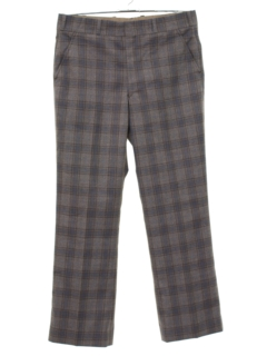 1970's Mens Plaid Slacks Pants