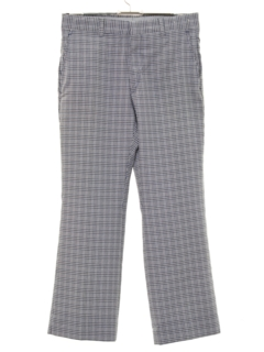 1970's Mens Flared Plaid Golf Pants
