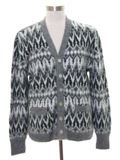 1980's Mens Totally 80s Cosby Style Cardigan Sweater