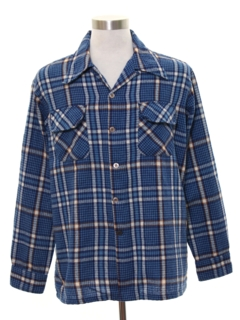 1970's Mens Wool Board Style Flannel Shirt