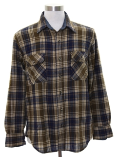 1980's Mens Easy to Close Flannel Shirt
