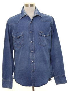 1980's Mens Grunge Denim Shirt