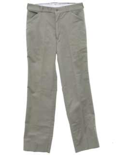 1980's Mens Lined Khaki Work Pants