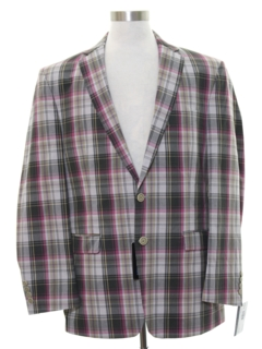 1990's Mens Mod Plaid Blazer Sportcoat Jacket