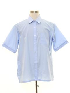 1980's Mens Mod Solid Sport Shirt