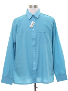 1980's Mens Solid Sport Shirt