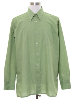 1960's Mens Mod Solid Sport Shirt