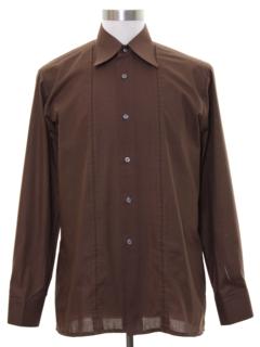 1970's Mens Mod Solid Shirt