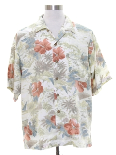 1990's Mens Rayon Tommy Bahama Hawaiian Shirt