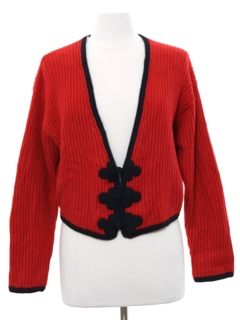 1980's Womens Totally 80s Silk and Angora Sweater
