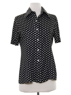 1970's Womens Polka Dot Shirt