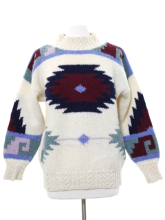 1980's Womens Totally 80s Style Ski Sweater