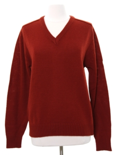 1970's Womens V Neck Sweater