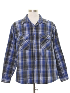 1980's Mens Grunge Flannel Cpo Shirt Jacket