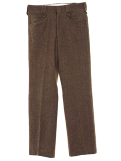 1970's Mens Mod Western Leisure Style Wool Pants