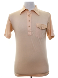 1970's Mens or Boys Knit Golf Shirt