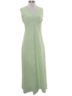 1970's Womens Prom or Bridesmaid Maxi Dress