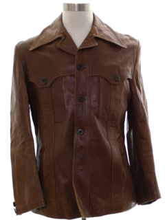 1970's Mens Leather Leisure Jacket
