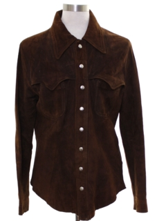 1970's Mens Leather Shirt Jacket